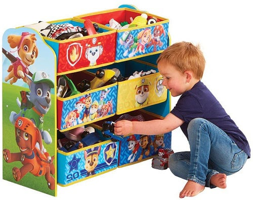 caja baul juguetes patrulla canina dibujos animados
